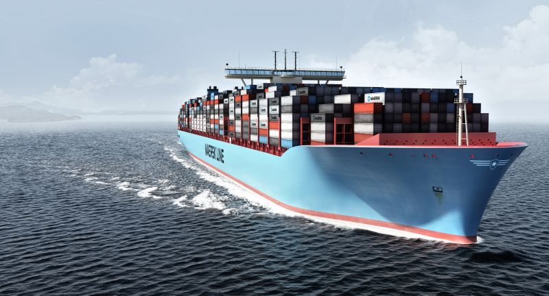 A.P., Moller, -, Maersk, Container, Containerschiff, Sea, Cargo