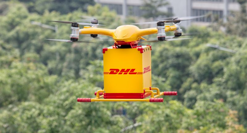 DHL, Express, startet, Drohnen-Lieferservice, in, China
